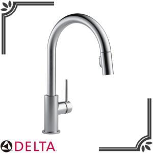 DELTA キッチン水栓 9159-AR-DST Trinsic ワンホール シャワー引出し式シング...