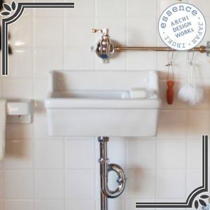 イブキクラフト ESSENCE 手洗器 E274280 手洗器〔壁付型〕 Sレクタングル〔横水栓用〕 ブランカ|jyusetsu-hanbai