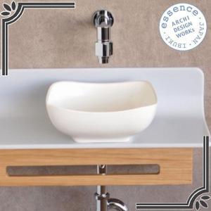 イブキクラフト ESSENCE 手洗器 E323030  手洗器 Sスクエア 素(しろ) エーデルワイス|jyusetsu-hanbai