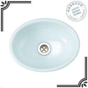 イブキクラフト ESSENCE 手洗器 E350027  手洗器 Sオーバル スロウカラーズ 縹色(はなだいろ)|jyusetsu-hanbai