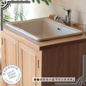 イブキクラフト ESSENCE 洗面器 E350060 洗面器 Lレクタングル スロウカラーズ リネン|jyusetsu-hanbai