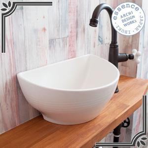 イブキクラフト ESSENCE 手洗器 E381010  手洗器 Sクレセント リアリーホワイト|jyusetsu-hanbai