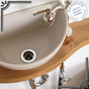 ◆製品の仕様◆ E381030 置型手洗器 Sクレセント カラー 灰白(はいじろ) 容量 2L サイ...
