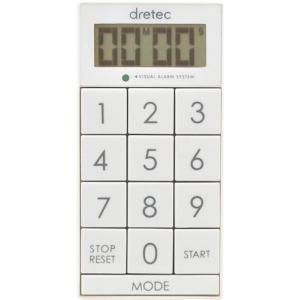 【メール便対応】ドリテック デジタルタイマー「スリムキューブ」 ホワイト 【品番:T-520WT】