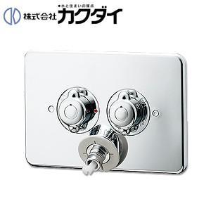 カクダイ 洗濯機用蛇口 [壁][2ハンドル混合水栓][洗濯機用混合栓(立ち上がり配管用)][一般地] 127-102|jyusetu