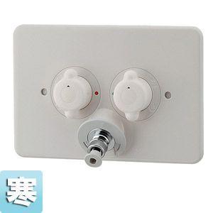 カクダイ 洗濯機用蛇口 [壁][2ハンドル混合水栓][洗濯機用混合栓(天井配管用)][寒冷地] 127-105K|jyusetu