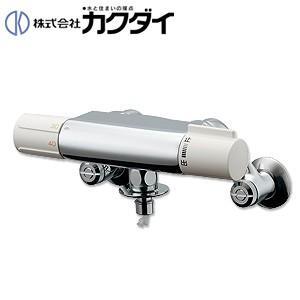 カクダイ 洗濯機用蛇口 [壁][サーモスタット付混合水栓][洗濯機用サーモスタット混合栓(ストッパー付)][一般地] 177-002|jyusetu