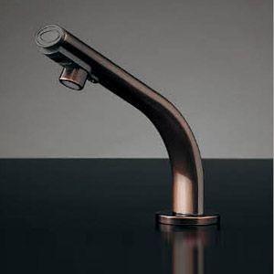カクダイ 小型電気温水器(センサー水栓つき) 篝(かがり)[台][自動水栓][タッチレス水栓][高さ140mm][ブロンズ] 239-002-1 jyusetu