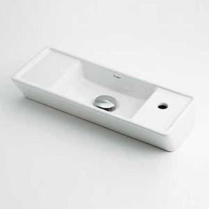 カクダイ 壁掛手洗器単品[Luju][[取付穴:右仕様] 493-066|jyusetu