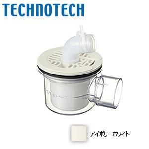 テクノテック 防水パン用排水トラップ PNT-SWM [T.Eトラップ][横型][TPD・TPW用][本体:透明][目皿:アイボリーホワイト]|jyusetu