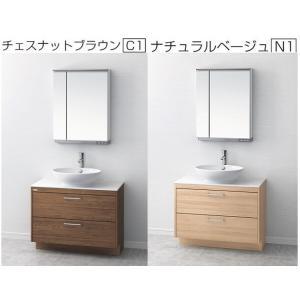 アサヒ衛陶 オーラ デザイン洗面化粧台 間口60cm LTM600KF+MM450S 現金決済でさらに値引 おしゃれ ポイント2 jyusetutanatekkus