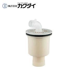 カクダイ 洗濯機パン用トラップ 縦引トラップ アイボリー 426-131 KAKUDAI