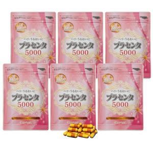 プラセンタ サプリ カプセル プラセンタ5000 6袋(1袋あたり30カプセル) - ほほえみ元気クラブ|k-1ba