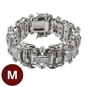ダブルエックス金銀ブレス M シルバー|k-1ba
