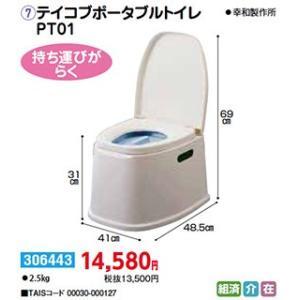 樹脂製 テイコブポータブルトイレPT01 - 東京山海堂|k-1ba