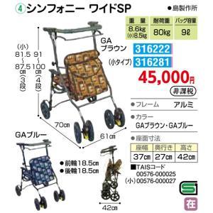 歩行車(屋外) シンフォニー ワイドSP - 東京山海堂|k-1ba