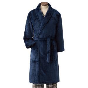毛布のような暖かガウン ネイビー 1枚 - 東京山海堂 k-1ba