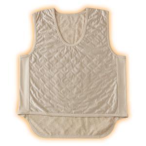 吸湿発熱繊維 保温ベスト(ベージュ)2枚組 - 東京山海堂 k-1ba