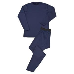 毛布のような着心地あったか肌着(紳士用)ネイビー 上下1組 - 東京山海堂 k-1ba