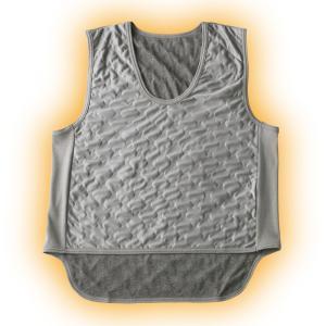 吸湿発熱繊維 保温ベスト(グレー)2枚組 - 東京山海堂 k-1ba
