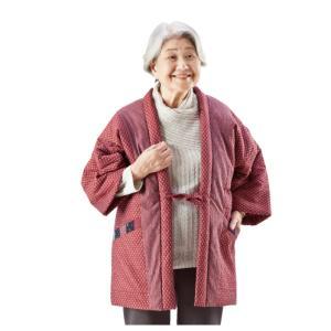 婦人用 久留米織り わた入りふっくらはんてん 1枚|k-1ba