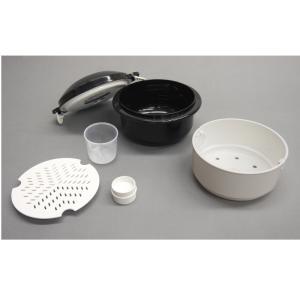 圧力弁でおいしく炊ける 電子レンジ用炊飯器 1セット|k-1ba
