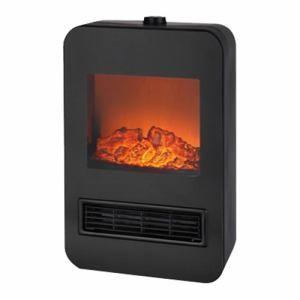 ゆらめく炎のような明かりで暖かさを演出する暖炉型セラミックファンヒーター 本体サイズは小さいですが1...