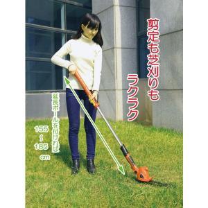 剪定バリカン ラクラク軽量芝刈機 枝切り 剪定 刈り込み 充電式コードレスバリカン : 熟年時代|k-1ba