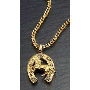 メンズ駿馬蹄鉄磁気ネックレス - 熟年時代社 ペガサス ショップ|k-1ba
