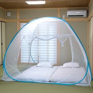 ワンタッチ蚊帳 Lサイズ テント型 布団2枚分 底面も守るネット - 熟年時代社 ペガサス ショップ|k-1ba