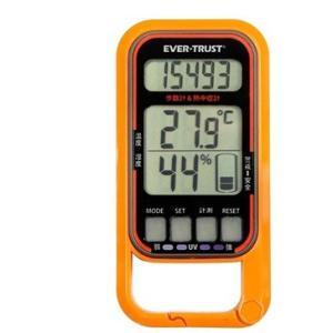 歩数計 時間 距離 紫外線計測 熱中症歩数計 オレンジ - 熟年時代社 ペガサス ショップ|k-1ba