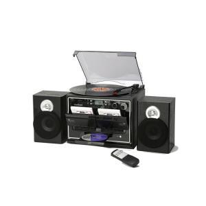 レコード/カセット/CD/ラジオが聴けて しかも簡単にカセットに録音できる カセットからカセットに高...