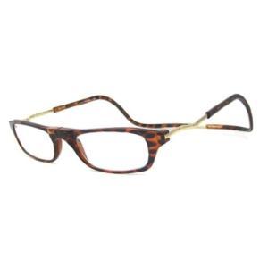 フロントマグネット式老眼鏡 ブラウン+3.5 : 熟年時代 熟年時代社|k-1ba