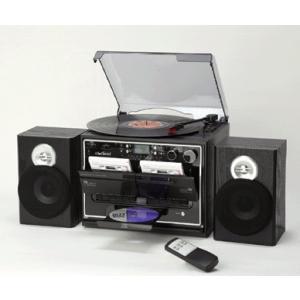 ダブルカセットマルチプレーヤー レコード ラジオ CD カセット 再生 ダビング - 熟年時代|k-1ba