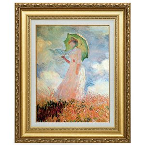 モネ 日傘を持つ女 立体複製名画 美術品 レプリカ - アートの友社|k-1ba