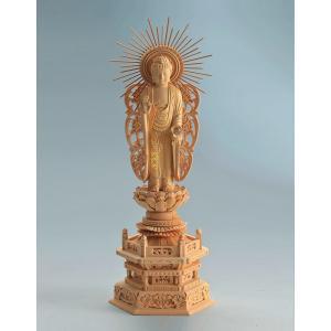 宗派別開運御仏像 開運 阿弥陀如来像 西型 仏像彫刻 木製 木彫り彫刻|k-1ba
