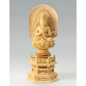 宗派別開運御仏像 開運 大日如来像 仏像彫刻 木製 木彫り彫刻|k-1ba