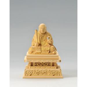 宗派別開運御仏像 開運 日蓮座像 船型 仏像彫刻 木製 木彫り彫刻|k-1ba