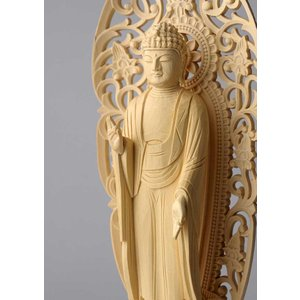 阿弥陀如来像(舟形) 仏像彫刻 木製 木彫り彫刻|k-1ba