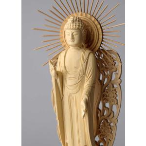 阿弥陀如来像(西型) 仏像彫刻 木製 木彫り彫刻|k-1ba