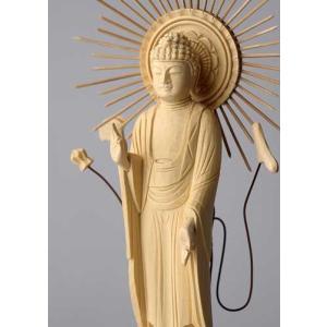 阿弥陀如来像(東型) 仏像彫刻 木製 木彫り彫刻|k-1ba