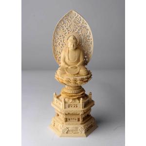 釈迦如来像 仏像彫刻 木製 木彫り彫刻|k-1ba
