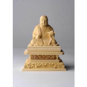 日蓮聖人像 仏像彫刻 木製 木彫り彫刻|k-1ba
