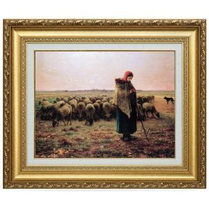 ミレー 羊飼いの少女 立体複製名画 美術品 レプリカ - アートの友社|k-1ba