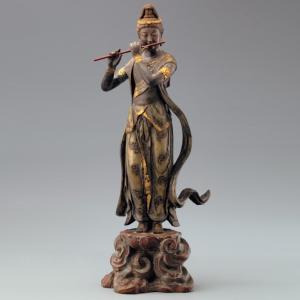 音声菩薩 喜多敏勝 作 証明書付 仏像彫刻 ブロンズ像|k-1ba
