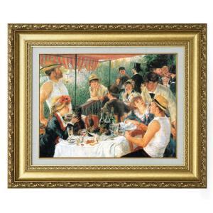 立体複製名画 ルノワール 「舟遊びの昼食」 美術品 レプリカ 壁掛け インテリア - アートの友社|k-1ba