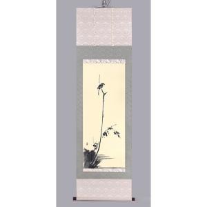 宮本武蔵 「枯木鳴鵙図」 複製 掛軸 - アートの友社|k-1ba
