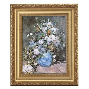 ルノワール「春の花」 4号サイズ 立体複製名画 美術品 レプリカ - アートの友社|k-1ba