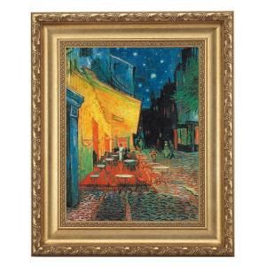 ゴッホ「夜のカフェテラス」 4号サイズ 立体複製名画 美術品 レプリカ - アートの友社|k-1ba