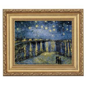 ゴッホ「ローヌ川の星月夜」 4号サイズ 立体複製名画 美術品 レプリカ - アートの友社|k-1ba